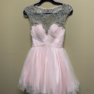 Aspeed Dress - pink with beading